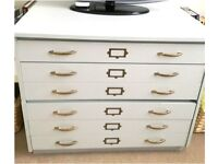 Plan Chest/Architects Drawers (White)
