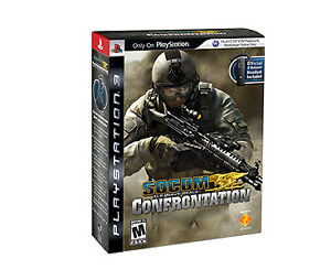 Socom: Confrontation Bundle with official Sony PS3 Bluetooth Headset - Brand New