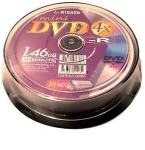 Ritek Ridata mini DVD-R 1.46GB 4X, 10-pack