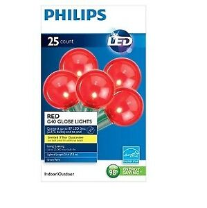 Philips String LED Decorative Lights Red Globe - 24 ft BRAND NEW