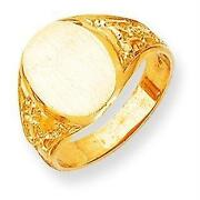 Mens Solid Gold Signet Rings