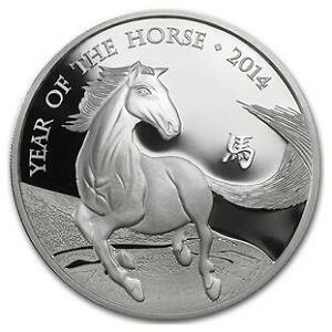 2014 Year of the horse british royal mint silver coin 1 oz .999
