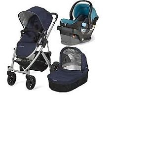 Uppababy Vista Stroller-bassinet +(Peg-Perego car seat,adapter).
