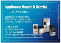 Appliances Repair, Install Service (Electric, Gas).