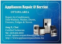 Appliances Repair, Install Service (Electric and Gas).