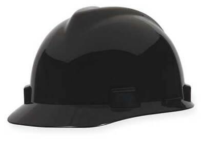 MSA 492559 V-Gard Hard Hat,Front Brim,Fastrac,Black