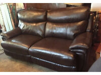 3 Seater Leather Electric Reclining Sofa