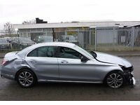 2015 MERCEDES-BENZ C220 SPORT BLUETEC AUTO Damage Repairable Cat C