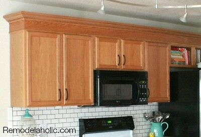 5 ways to update kitchen cabinets ebay for Oak crown molding for kitchen cabinets