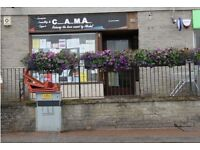 Retail shop / Office to let. Prime position next to Ardrishaig Co-op. Available immediately.