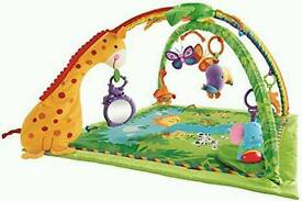 Fisher-price rainforest interactive baby play mat