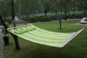 "83"" Fabric Hammock with Pillow / Camping Hammock / HAMMOCK"