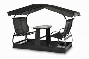 Glider swings with table & roof