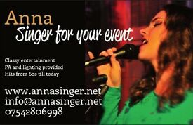 Anna - lovely singing for your event, all sorts of music.