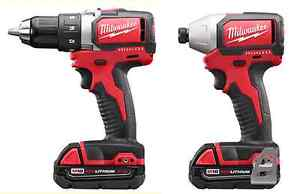 Milwaukee M18 BRUSHLESS impact AND drill set Kitchener / Waterloo Kitchener Area image 1