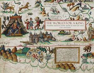 The World for a King: Pierre Desceliers' World Map of 1550 by Chet van Duzer...