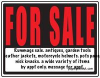 Rummage/moving sale