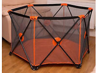 MCC Pop Up Playpen Portable Baby Play Yard Orange - Ready to collect!