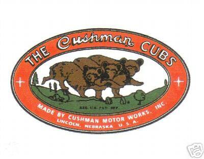 CUSHMAN CUBS ENGINE VINYL STICKERS (A415) for sale  Clarkrange
