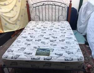 Excellent solid metal frame Queen Bed Set. Delivery available Kingsbury Darebin Area Preview