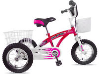 "Pedal Pals Supatrike 12"" Girls Tri-Bike Pink White"