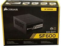 Corsair SF600 power supply (small form factor SFF PSU for an ITX PC, 600 watts)