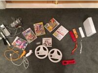 Nintendo wii, 6 games, 3 controllers and more job lot