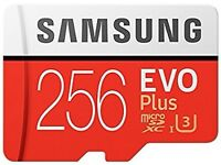 Samsung Memory Evo Plus 256 GB Micro SD Card with Adapter