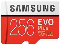 Samsung Memory Evo Plus 256 GB Micro SD Card with Adapter