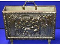 Antique brass plated magazine rack
