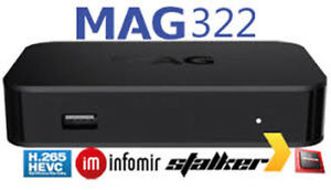 New Infomir MAG 322 and MAG322 W1 IPTV Box