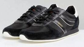 Boss Orange Nylon and Suede Trainers Black by Hugo Boss