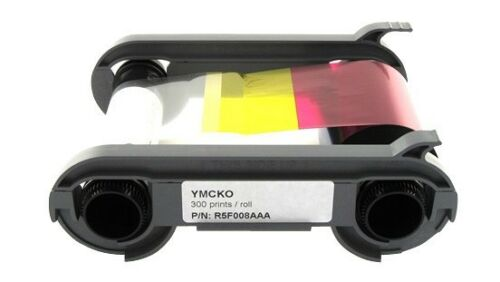 R5F008AAA Evolis Color Ribbon YMCKO for Primacy, Elypso - 300 images - NEW