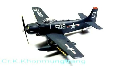 1/144 F-Toys Douglas A-1H SKYRAIDER U.S.NAVY WW2 Air craft Wing kit col.6 (1B)