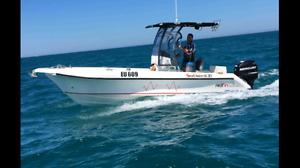 Centre console fibreglass boat 6.3m 21ft 2014 Beeliar Cockburn Area Preview