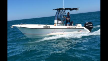 Centre console fibreglass boat 6.3m 21ft 2014