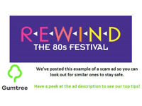 Rewind Festival Weekend Tickets -- Read the ad description before replying!!
