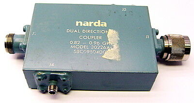 Narda 30226a Dual Directional Coupler 0.82-0.96 Ghz