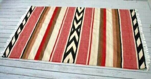 Vtg Navajo Rug Blanket Native American Indian Mexican South West Weaving Textile