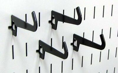 Wall Control Pegboard 3-12in Reach Curved Tip Slotted Hook Pack - Slotted Metal