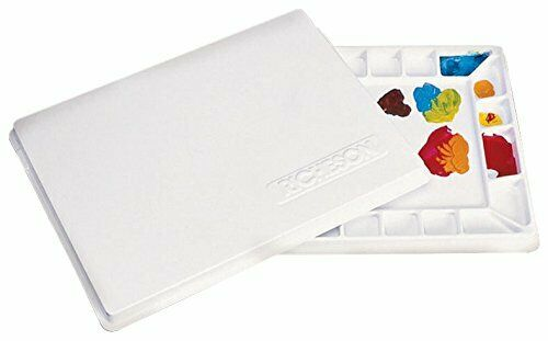 Jack Richeson 22 Wells Plastic Palette with Cover, 16 by 12-Inch