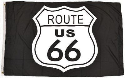 3X5 Route 66 Black and White Flag 3'x5' Flag Banner USA SELLER - Black And White Flag