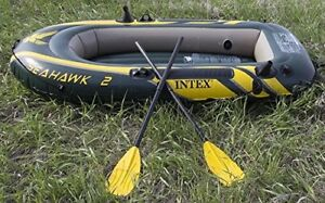A very new inflatable boat used only once for testing
