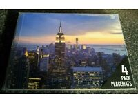 4 NYC new york city skyline empire state placemats USA table mats America sky