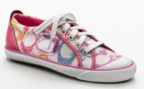 pink coach tennis shoes ebay