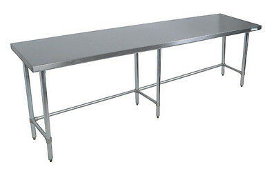 Bk Resources Svtob-9630 96x 30 Work Table 18g Stainless Steel Top W Open Base