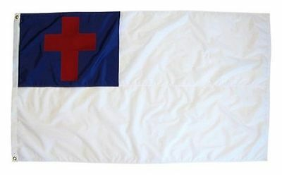 3x5 Christian Flag Religous Cross Polyester Flag FAST USA SHIPPING