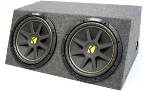 KICKER DUAL COMP C12 12 INCH SEALED HIGH PERFORMANCE SUB WOOFER BOX 2 OHM NEW