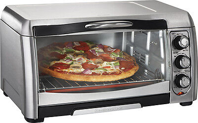 Hamilton Beach - Convection Toaster/Pizza Oven - Black/Stainless-Steel ...