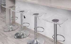 Clear Perspex and Chrome Bar Stools set of 4 Hornsby Hornsby Area Preview